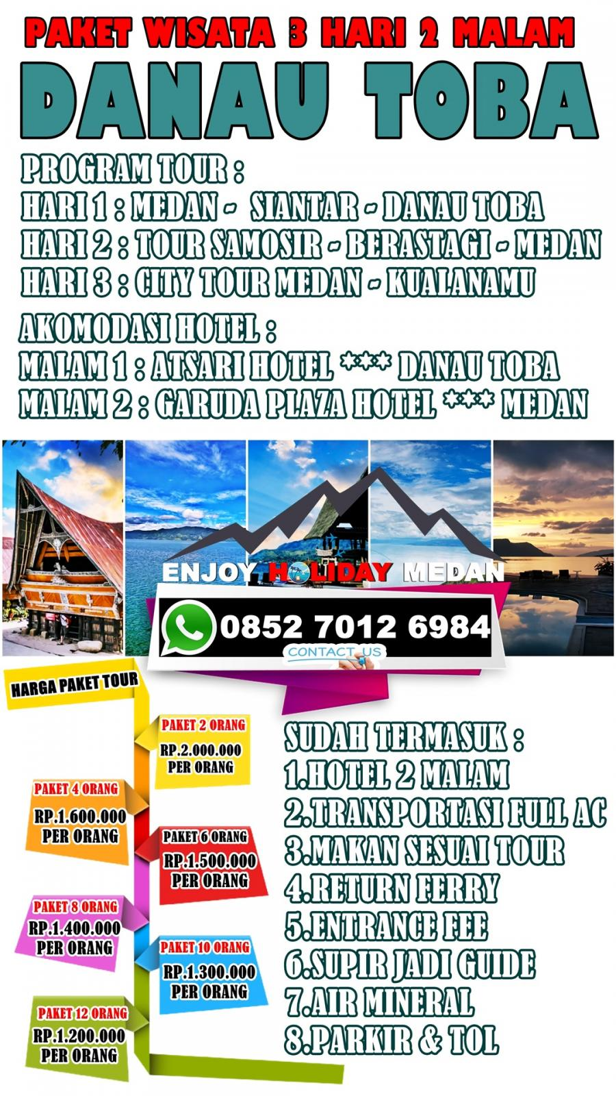 3D2N Medan Lake Toba Berastagi Tour Package