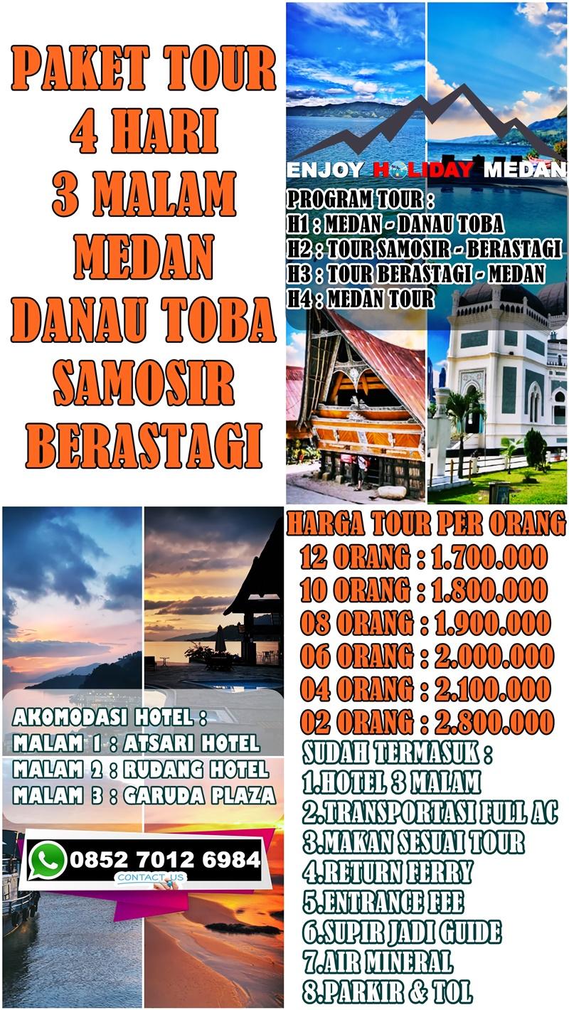 Paket Tour Medan Danau Toba 4 Hari